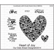 Our Daily Bread Cling Rubber Stamp 12cm x 18cm -Heart Of Joy