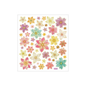 Multicoloured Stickers-Flowers