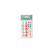 Now & Then Dorothy Adhesive Enamel Shapes 28/Pkg-Lovely Day