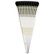 Ranger Flat Cosmetic Brushes, Bag Of 12