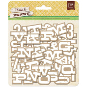 Herbs & Honey Printed Self-Adhesive Chipboard-Kraft W/White Alphabet
