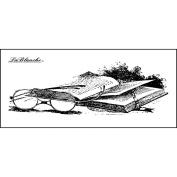 LaBlanche Silicone Stamp 8.9cm x 3.8cm -Book & Glasses