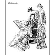 LaBlanche Silicone Stamp 7.6cm x 10cm -Three Ladies