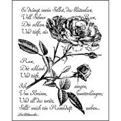 LaBlanche Silicone Stamp 7.6cm x 10cm -Written Rose