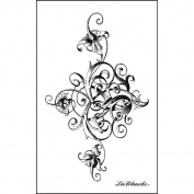 Lablanche Silicone Stamp 6.4cm x 10cm -Stately Swirl