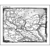 LaBlanche Silicone Stamp 10cm x 7.6cm -Berlin Map