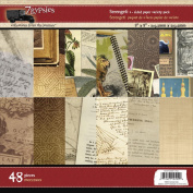 Serengeti Double-Sided Paper Pad 20cm x 20cm 48/Sheets-6 Designs/8 Each