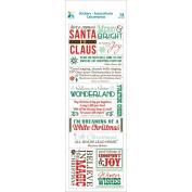 Momenta Vellum Stickers-Christmas Message