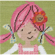 Emily Button Portrait Tapestry Kit-15cm x 15cm