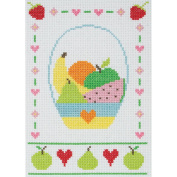 Fruit Starters Counted Cross Stitch Kit-23cm x 16cm 11 Count