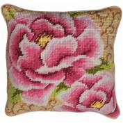 Peony Cushion Tapestry Kit-38cm - 1.9cm X15-3/4