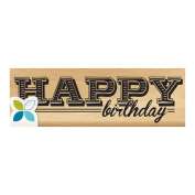 Momenta Mounted Stamp 7.6cm x 2.5cm -Happy Birthday Day