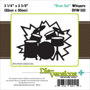 Die-Versions Whispers Die-Drum Set 8.3cm x 6cm