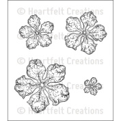 Heartfelt Creations Cling Rubber Stamp Set 13cm x 17cm -Open Vintage Floret