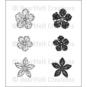 Heartfelt Creations Cling Rubber Stamp Set 13cm x 17cm -Mini Vintage Floret
