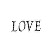 Magenta Cling Stamps 3.8cm x 5.1cm -Love