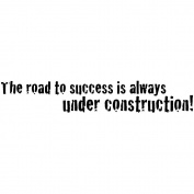 Magenta Cling Stamps 2.5cm x 7cm -The Road To Success...