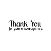 Magenta Cling Stamps 1.9cm x 5.7cm -Thank You For Your...