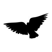 Magenta Cling Stamps 2.5cm x 4.4cm -Flying Bird 2