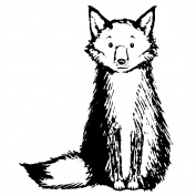 Magenta Cling Stamps 7.6cm x 6.4cm -Large Fox