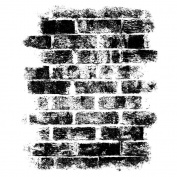 Magenta Cling Stamps 8.9cm x 7.6cm -Bricks