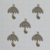 Vintage Findings 5/Pkg-Umbrella Charms 2.8cm x 3.8cm