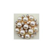 Junque & Gems Button-Rhinestone
