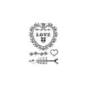 Clear Stamps 7.6cm x 10cm -Love U