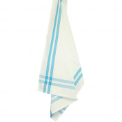 Cream Towel W/Brown & Turquoise Stripes 50cm x 70cm -