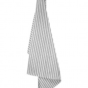 Cream Ticking Stripe Dishtowel 50cm x 70cm -Black