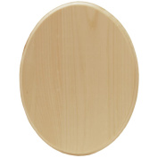 Walnut Hollow Pine Oval Plaque, 7 by 23cm by 1.6cm Multi-Coloured
