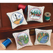 Four Seasons Pincushions Counted Cross Stitch Kit-7.6cm - 1.3cm x 8.9cm Set Of 4