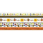 Spooky Town Rub-Ons 13cm x 30cm Sheet-Pumpkin Parade Borders