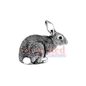 Deep Red Cling Stamp 5.1cm x 5.1cm -Bunny Rabbit