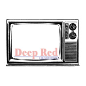 Deep Red Cling Stamp 8.9cm x 5.1cm -Classic TV