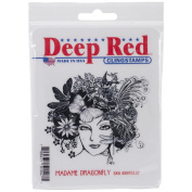 Deep Red Cling Stamp 7.6cm x 7.6cm -Madame Dragonfly