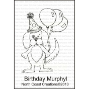 North Coast Creations Cling Rubber Stamp 9.5cm x 15cm -Birthday Murphy