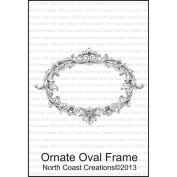North Coast Creations Cling Rubber Stamp 9.5cm x 15cm -Ornate Oval Frame