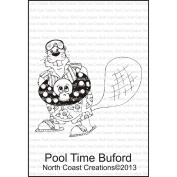 North Coast Creations Cling Rubber Stamp 9.5cm x 15cm -Pool Time Buford