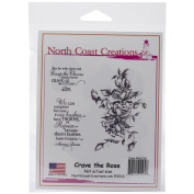 North Coast Creations Cling Rubber Stamp 13cm x 17cm -Crave The Rose