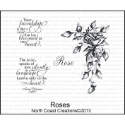 North Coast Creations Cling Rubber Stamp 13cm x 17cm -Roses
