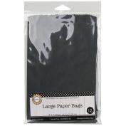 Large Paper Bags 13cm x 19cm 12/Pkg-Black