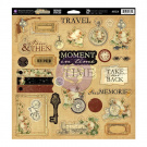 Time Traveller Self-Adhesive Chipboard 30cm x 30cm -