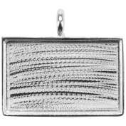 Designer's Rectangle Base Pendant 33mmx22mm 1/Pkg-Silver Overlay
