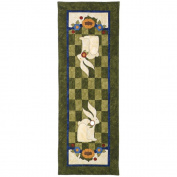 Jeri Kelly Patterns-Garden Rabbit Table Runner