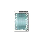 Memory Box Stencil-Distressed Grid