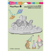Stampendous Happyhopper Cling Rubber Stamp 14cm x 11cm Sheet-Inner Tube Nap