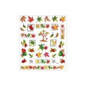 Multicoloured Stickers-Fall Leaves