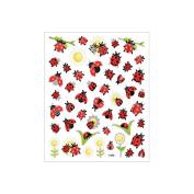 Multicoloured Stickers-Ladybugs & Sunflowers