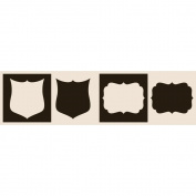 Glimmer Screens Stencils 4/Pkg-Rockin' Renaissance - Crests & Frames